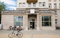 Exterior of Computerspiele Museum or Computer games Museum on Karl Marx Allee in Berlin Germany