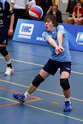09-02-2013 VOLLEYBAL: NOJK 2013: HALVE FINALES DORDRECHT<br /> In Dordrecht werd de halve finale van de NOJK A Jeugd gespeeld / Next Volley Dordrecht<br /> ©2012-FotoHoogendoorn.nl / Pim Waslander