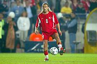 Fotball<br /> Kvalifisering til EM 2004<br /> 11.10.2003<br /> Tyrkia v England<br /> Norway Only<br /> Foto: Digitalsport<br /> <br /> FOOTBALL - EURO 2004 - QUALIFICATIONS - GROUP 7 - TURKEY v ENGLAND - 031011 - TUGAY KERIMOGLU (TUR) - PHOTO LAURENT BAHEUX
