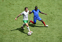 Jeff Hendrick of Republic of Ireland battles for the ball with,  Ngolo Kante of France  - Mandatory by-line: Joe Meredith/JMP - 26/06/2016 - FOOTBALL - Stade de Lyon - Lyon, France - France v Republic of Ireland - UEFA European Championship Round of 16