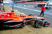 February 19, 2013 - Barcelona Spain. Max Chilton, Marussia F1 Team  during pre-season testing from Circuit de Catalunya.