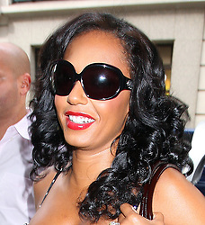 Mel B leaves her London Hotel and heads to a photocall for lingerie brand Ultimo 10th anniversary, at Debenhams store in Oxford Street. UK. 02/09/2009<br /> BYLINE MUST READ : GOTCHAIMAGES.COM<br /> <br /> Copyright by © Gotcha Images Ltd. All rights reserved.<br /> Usage of this image is conditional upon the acceptance <br /> of Gotcha Images Ltd, terms and conditions available at<br /> www.gotchaimages.com