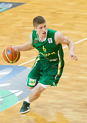 Evaldas Aniulis of Lithuania during basketball match between National teams of Slovenia and Lithuania in Preliminary Round of U20 Men European Championship Slovenia 2012, on July 14, 2012 in Domzale, Slovenia. Slovenia defeated Lithuania 87-81. (Photo by Vid Ponikvar / Sportida.com)