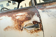 With age comes wisdom, and a few blemishes, Image of a rusty old 1952 pre-A 356 Porsche in southern California, America west coast