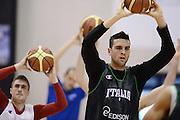 Biella, 15/12/2012<br /> Basket, All Star Game 2012<br /> Allenamento Nazionale Italiana Maschile <br /> Nella foto: riccardo cervi<br /> Foto Ciamillo
