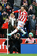 Picture by Paul Chesterton/Focus Images Ltd.  07904 640267.03/03/12.Matthew Etherington of Stoke scores what turns out to be the winning goal and celebrates during the Barclays Premier League match at the Britannia Stadium, Stoke-on-Trent.