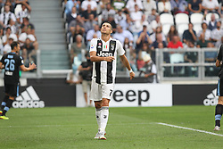 August 25, 2018 - Turin, Piedmont, Italy - Cristiano Ronaldo (Juventus FC) disappointed during the Serie A football match between Juventus FC and SS Lazio at Allianz Stadiumon august 25, 2018 in Turin, Italy. (Credit Image: © Massimiliano Ferraro/NurPhoto via ZUMA Press)