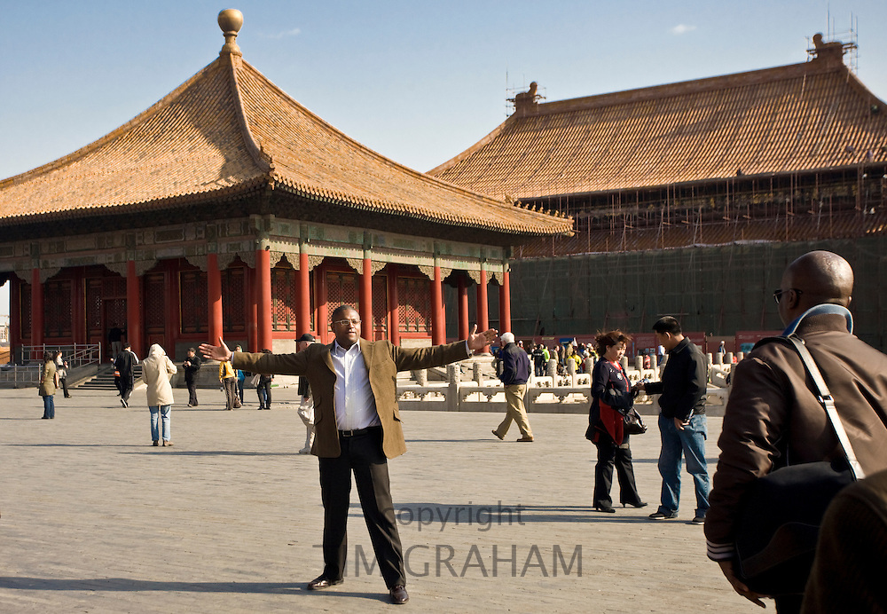 American tourists in the Forbidden City, Beijing, China