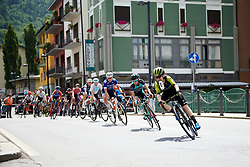 Amanda Spratt (AUS) leads the front group on Stage 5 of 2019 Giro Rosa Iccrea, a 88.8 km road race from Ponte in Valtellina to Lago di Cancano, Italy on July 9, 2019. Photo by Sean Robinson/velofocus.com