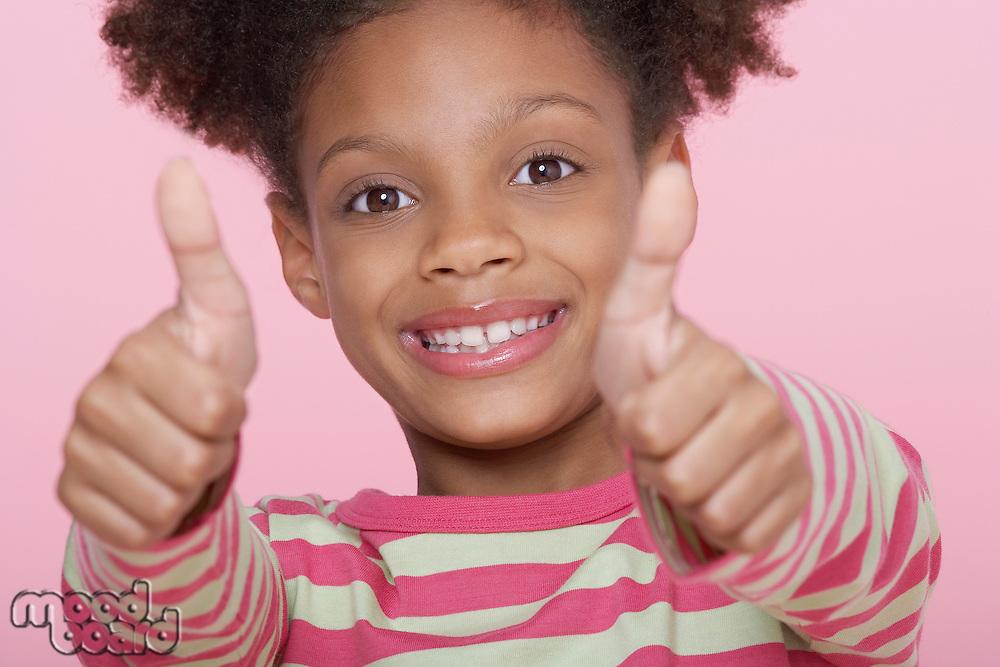 Girl Giving Thumbs Up