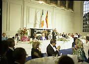 State Visit of King Juan Carlos and Queen Sophia of Spain to Ireland.<br /> 1986.<br /> 30.06.1986<br /> 06.30.1986.<br /> 30th June 1986.<br /> King Juan Carlos and Queen Sophia paid a state visit to Ireland at the invitation of President Hillery and the Irish people.<br /> The duration of the visit was three days.<br /> <br /> Image of President Hillery as he gives an address to the assembled dignitaries.