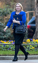 © Licensed to London News Pictures. 26/02/2019. London, UK. Secretary of State for Northern Ireland Karen Bradley arrives on Downing Street for the weekly meeting of the Cabinet. Prime Minister Theresa May will make a statement in Parliament to update MPs on Brexit this afternoon. Photo credit: Rob Pinney/LNP