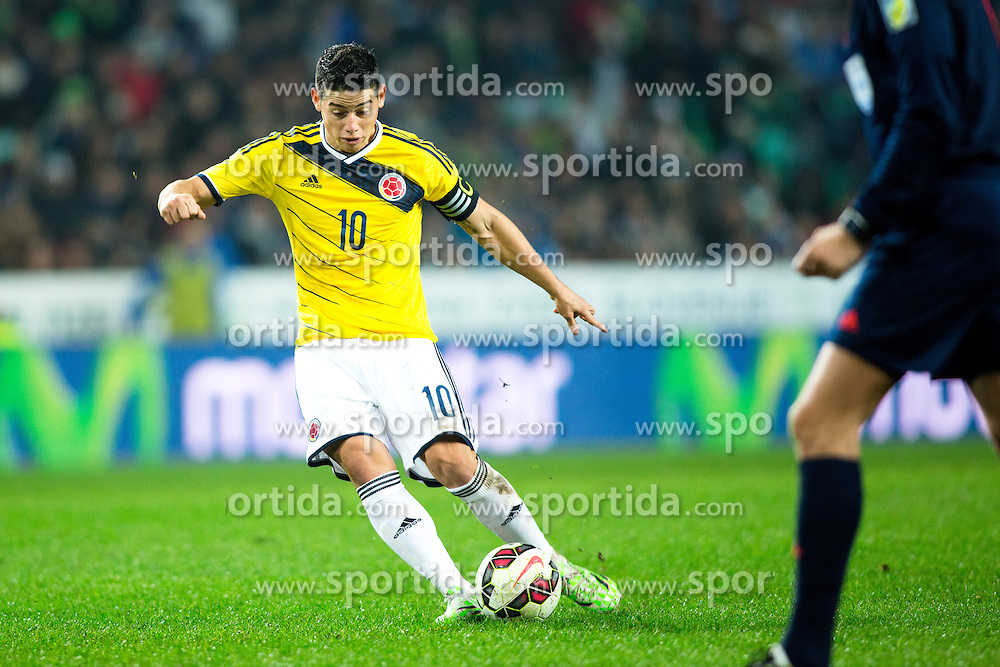 James Rodriguez of Colombia during friendly football match between National teams of Slovenia and Colombia, on November 18, 2014 in SRC Stozice, Ljubljana, Slovenia. Photo by Matic Klansek Velej / Sportida