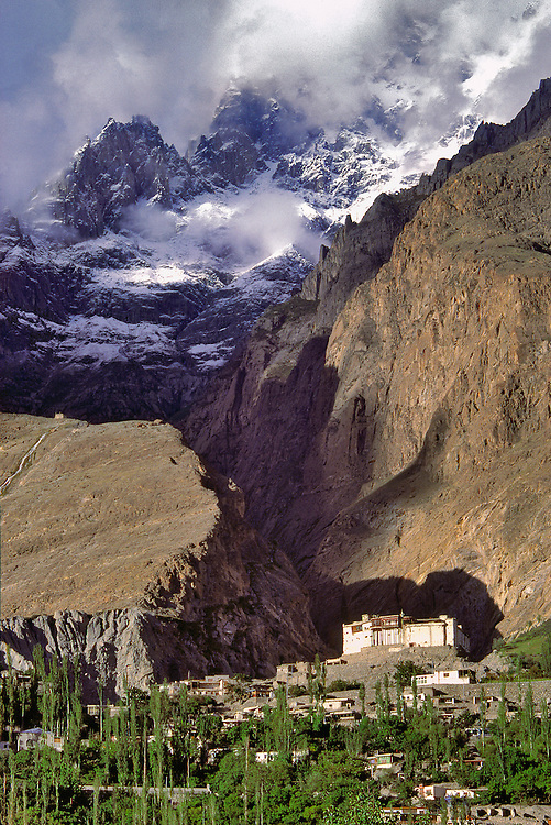 Baltit Fort in the capital city of Karimabad sits at the foot of the Karakoram Himalaya in Hunza, Pakistan.