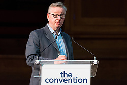 "© Licensed to London News Pictures. 13/05/2017. London, UK. MICHAEL GOVE MP speaks on the impact of Brexit in politics at ""The Convention on Brexit"" event at Westminster Central Hall in London on Saturday, 13 May 2017.Photo credit: Ray Tang/LNP"
