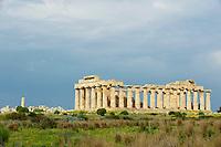 Italie, Sicile, Region de Trapani, Selinunte, Temple E // Italy, Italia, Sicily, Sicilia, Trapani district, Selinunte, Temple E
