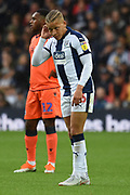West Bromwich Albion forward Dwight Gayle (16), on loan from Newcastle United during the EFL Sky Bet Championship match between West Bromwich Albion and Millwall at The Hawthorns, West Bromwich, England on 22 September 2018.