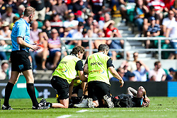 Jack Nowell of Exeter Chiefs recieves treatment for an injury - Mandatory by-line: Robbie Stephenson/JMP - 01/06/2019 - RUGBY - Twickenham Stadium - London, England - Exeter Chiefs v Saracens - Gallagher Premiership Rugby Final