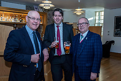 Pictured: Ray Turpie, CAMRA, Neil Bibby, MSP, and Colin Wilkinson, Managing Director of the Scottish Licensed Trade Association<br />