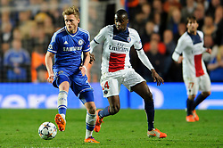 Chelsea Forward Andre Schurrle (GER) is challenged by PSG Midfielder Blaise Matuidi (FRA) - Photo mandatory by-line: Rogan Thomson/JMP - 07966 386802 - 08/04/2014 - SPORT - FOOTBALL - Stamford Bridge, London - Chelsea v Paris Saint-Germain - UEFA Champions League Quarter-Final Second Leg.