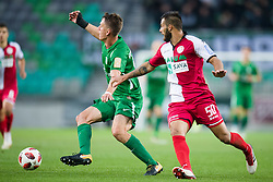 Andres Vombergar, Nemanja Jaksic during football match between NK Olimpija Ljubljana and Aluminij in Round #9 of Prva liga Telekom Slovenije 2018/19, on September 23, 2018 in Stozice Stadium, Ljubljana, Slovenia. Photo by Morgan Kristan