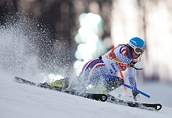 21.02.2014, Rosa Khutor Alpine Resort, Krasnaya Polyana, RUS, Sochi, 2014, Slalom, Damen, 1. Durchgang, im Bild Ksenia Alopina (RUS) // Ksenia Alopina of Russia in action during the 1st run of ladies Slalom to the Olympic Winter Games Sochi 2014 at the Rosa Khutor Alpine Resort, Krasnaya Polyana, Russia on 2014/02/21. EXPA Pictures © 2014, PhotoCredit: EXPA/ Johann Groder