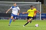 Burton Albion midfielder Marcus Harness (22) on the ball during the EFL Cup match between Burton Albion and Bury at the Pirelli Stadium, Burton upon Trent, England on 10 August 2016. Photo by Aaron  Lupton.