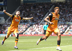 Abel Hernandez of Hull City celebrates scoring his sides first goal - Mandatory by-line: Jack Phillips/JMP - 14/05/2016 - FOOTBALL - iPro Stadium - Derby, England - Derby County v Hull City - Sky Bet Championship Play-Off Semi-Final First-Leg
