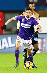 10.02.2018, Ernst Happel Stadion, Wien, AUT, 1. FBL, FK Austria Wien vs Lask, 22. Runde, im Bild Tarkan Serbest (FK Austria Wien) // during Austrian Football Bundesliga Match, 22nd Round, between FK Austria Vienna and Lask at the Ernst Happel Stadion, Vienna, Austria on 2018/02/10. EXPA Pictures © 2018, PhotoCredit: EXPA/ Alexander Forst