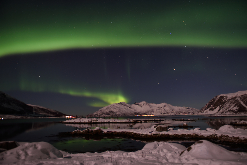 Clear winter skies in Northern Norway enabled clearly viewing the Aurora Borealis, also known as The Northern Lights, near the city of Tromso, located by the Norwegian Sea, on March 07, 2017. Aurora Borealis is a natural light display in the sky, predominantly seen in the high latitude (Arctic and Antarctic) regions. Photo by Gili Yaari