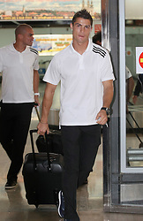 13.09.2011, Zagreb, CRO, UEFA CL, Real Madrid in Zagreb, im Bild Real Madrid players arrive to Zagreb airport the day before the Champions League match against Dinamo Zagreb. Cristiano Ronaldo. EXPA Pictures © 2011, PhotoCredit: EXPA/ nph/ Pixsell/ Petar Glebov +++++ ATTENTION - OUT OF GERMANY/(GER), CROATIA/(CRO), BELGIAN/(BEL) +++++