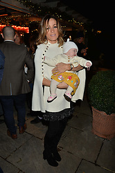 The Ivy Chelsea Garden's Guy Fawkes Party & Launch of The Winter Garden was held on 5th November 2016.<br /> Picture shows:- NATALIE PINKHAM and her daughter WILLOW.