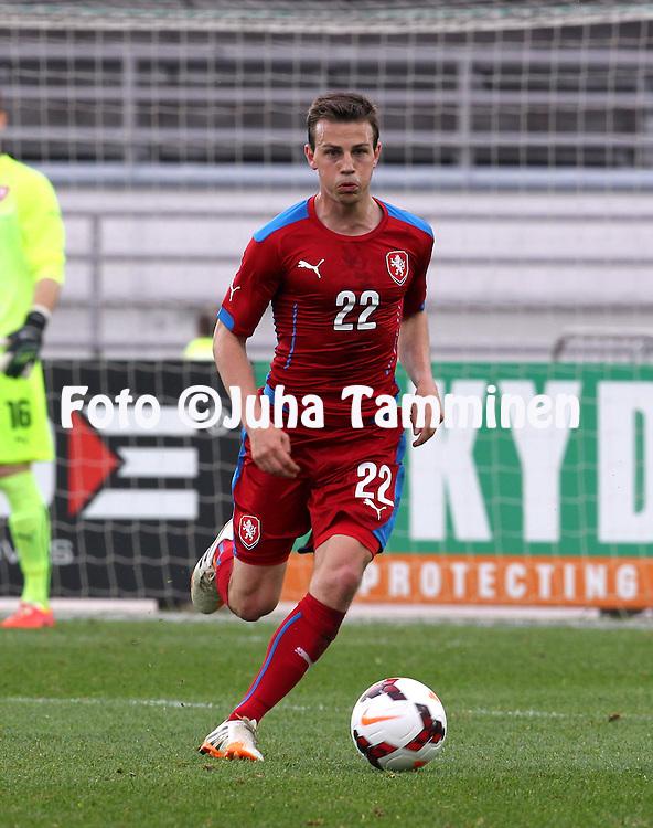 21.5.2014, Olympic Stadium, Helsinki, Finland.<br /> Friendly International match Finland v Czech Republic.<br /> Vladimir Darida - Czech Rep.