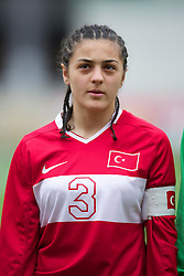 LLANELLI, WALES - Thursday, March 31, 2011: Turkey's Telma Olafsdottir lines-up before the UEFA European Women's Under-19 Championship Second Qualifying Round (Group 3) match against Iceland at Parc Y Scarlets. (Photo by David Rawcliffe/Propaganda)