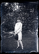 adult woman standing in a woods setting France circa 1920s