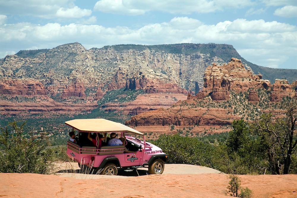 Sedona, Arizona:  Pink Jeep Tour into the Coconino National Forest, along Broken Arrow Road.