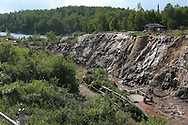 Overview of Amethyst Mine Panorama, largest deposit in Canada, a working mine and tourist attraction with dig-your-own tailing field near Dorion, Ontario.