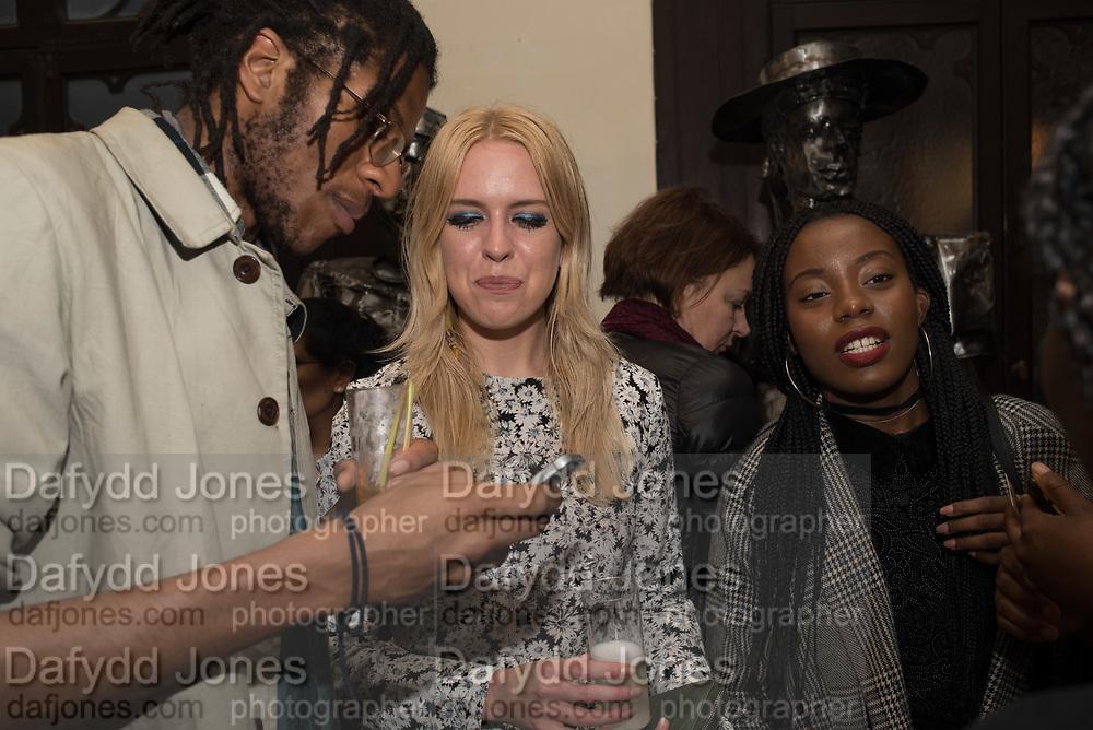 RAY FIASCO; LUCY CARTLEDGE; cynthia silveira, Opening of Diaspora Pavilion  Palazzo Pisani and Santa Marina. Venice Biennale, 10 May 2017