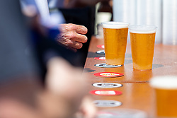 Beers are served on Dunder beer mats - Ryan Hiscott/JMP - 07/07/2018 - FOOTBALL - Ashton Gate - Bristol, England - Sweden v England, World Cup Quarter Final, World Cup Village at Ashton Gate