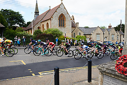 Peloton speed through Silverstone at OVO Energy Women's Tour 2018 - Stage 2, a 145 km road race from Rushden to Daventry, United Kingdom on June 14, 2018. Photo by Sean Robinson/velofocus.com