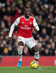 LONDON, ENGLAND - Thursday, December 5, 2019: Arsenal's Nicolas Pépé during the FA Premier League match between Arsenal FC and Brighton & Hove Albion FC at the Emirates Stadium. (Pic by Vegard Grott/Propaganda)