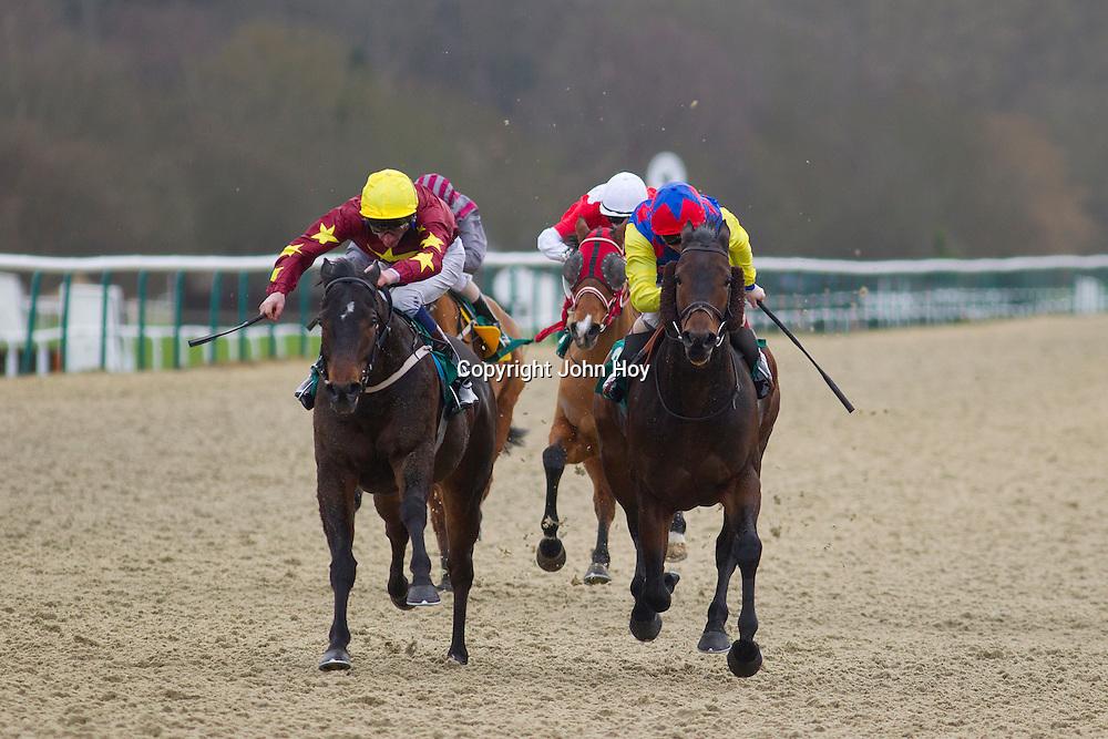 Dark Lane and Adam Kirby winning the 1.00 race