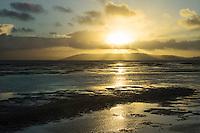 Beach Sunset God Beams, Alameda, California