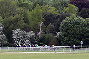 Horses down the back straight at the York Dante Meeting at York Racecourse, York, United Kingdom on 18 May 2018. Picture by Mick Atkins.