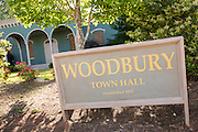 Woodbury Town Hall set used in filming the television series The Walking Dead May 8, 2013 in Senoia, Georgia.