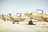 Unserviceable Libyan Air Force Soko G-2 Galeb trainer jets on Misrata airport. 28 May 2011.