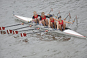 London, Great Britain,   Start No. 398 KINGSTON G SCH V.  Women's Jun 4x-. approach the start at Mortlake, Photo from Chiswick Bridge.  Fullers,  Fours Head of the River Race, Championship Course, Mortlake to Putney, River Thames. Saturday   05/11/2011   [Mandatory Credit. Peter Spurrier/Intersport Images]