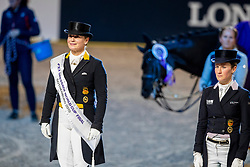 Werth Isabell, GER, Langehanenberg Helen, GER<br /> Göteborg - Gothenburg Horse Show 2019 <br /> FEI Dressage World Cup™ Final II<br /> Grand Prix Freestyle/Kür - Prix giving ceremony<br /> Longines FEI Jumping World Cup™ Final and FEI Dressage World Cup™ Final<br /> 06. April 2019<br /> © www.sportfotos-lafrentz.de/Stefan Lafrentz