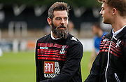 Joe Ledley looking relaxed before the Pre-Season Friendly match between Bromley and Crystal Palace at the Courage Stadium, Bromley, United Kingdom on 30 July 2015. Photo by Michael Hulf.
