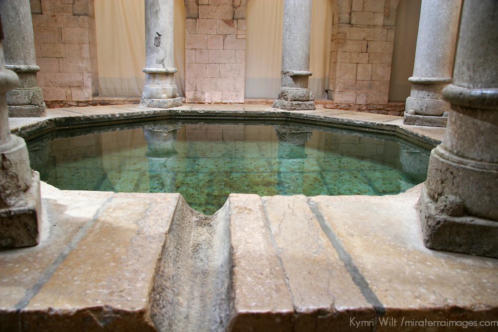 Europe, Spain, Girona. Pool in Arab Baths of Girona.